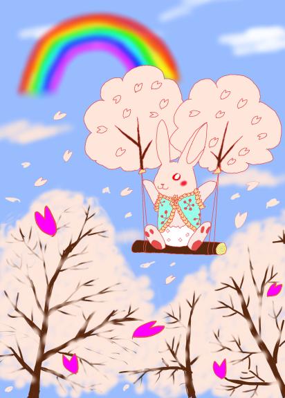 桜バルーンうさぎ