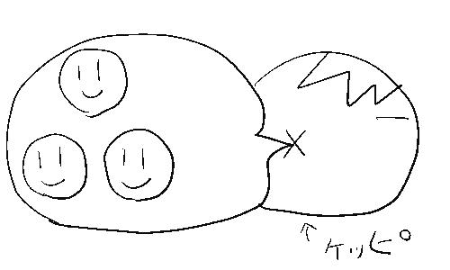 3人が合体したカッパの図2